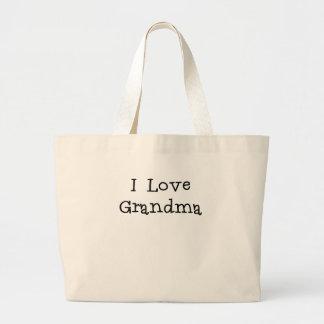 I Love Grandma.png Large Tote Bag