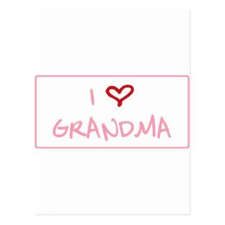 I Love GrandMa Postcard