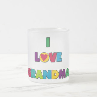 I Love Grandma T-shirts and Gifts 10 Oz Frosted Glass Coffee Mug