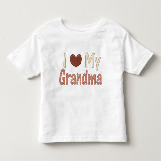 I Love GrandMa Toddler T-Shirt