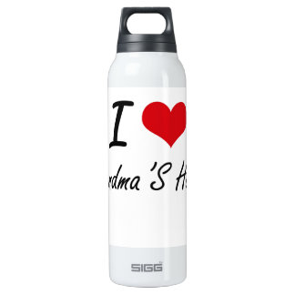 I love Grandma'S House 16 Oz Insulated SIGG Thermos Water Bottle