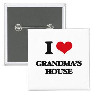 I love Grandma'S House 2 Inch Square Button