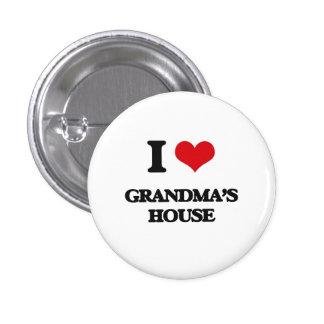 I love Grandma'S House 1 Inch Round Button