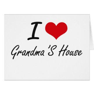 I love Grandma'S House Large Greeting Card