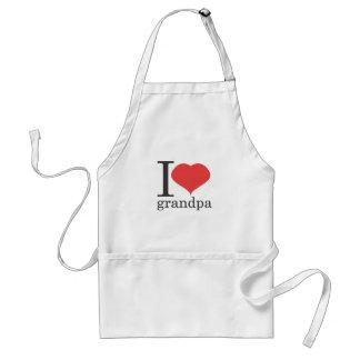 i love grandpa adult apron