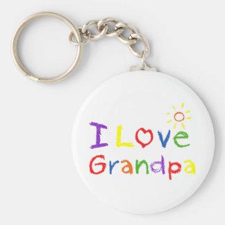 I love Grandpa Basic Round Button Keychain