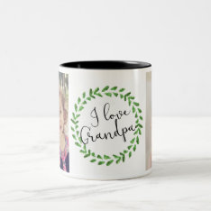 I Love Grandpa Custom Photo Mug at Zazzle