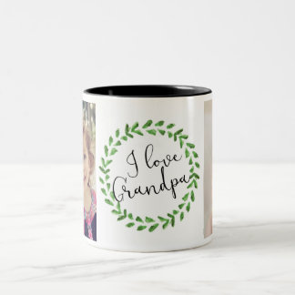 I Love Grandpa Custom Photo Mug