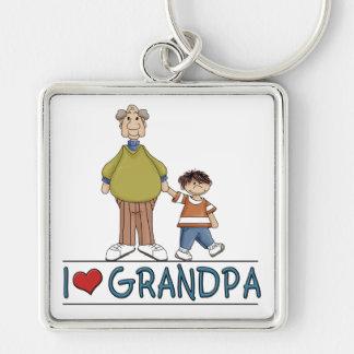 I Love Grandpa Keychain