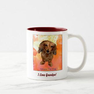 """I Love Grandpa!"" mug by Tatiana The Dog"