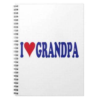 I Love Grandpa Notebook