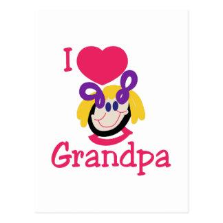 I Love Grandpa Postcard