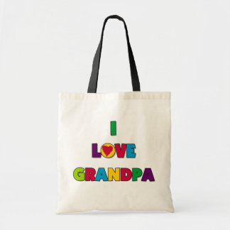 I Love Grandpa T-shirts and Gifts Budget Tote Bag