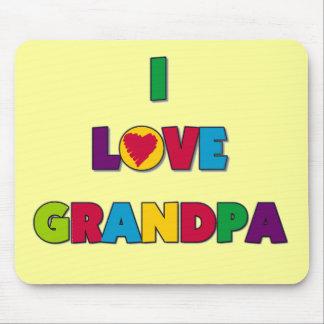 I Love Grandpa Tshirts and Gifts Mouse Pad