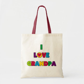 I Love Grandpa Tshirts and Gifts Tote Bag