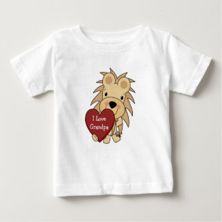 I Love Grandpa Whimsical Lion Valentine Baby T-Shirt