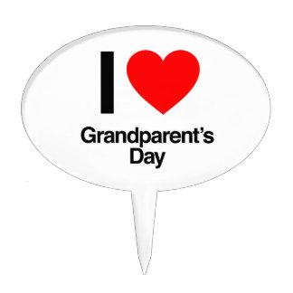 i love grandparent's day cake pick