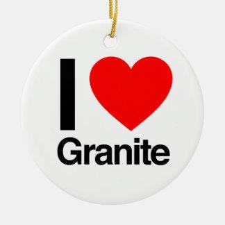 i love granite ceramic ornament