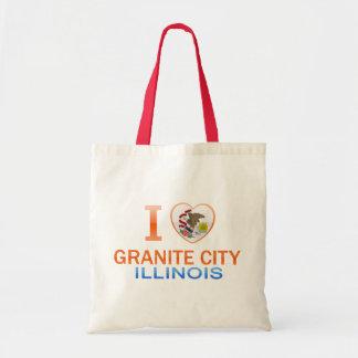 I Love Granite City, IL Canvas Bags