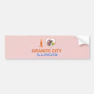 I Love Granite City, IL Bumper Stickers