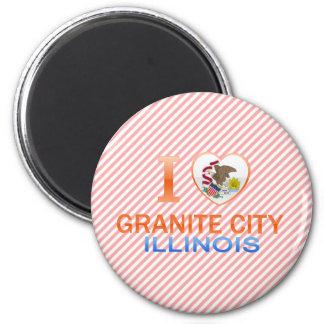 I Love Granite City, IL Magnets