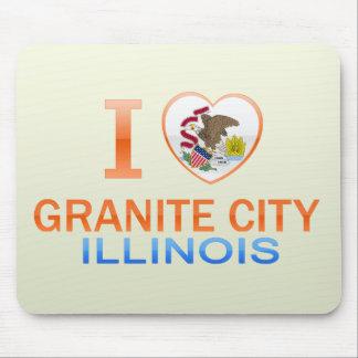 I Love Granite City, IL Mousepad
