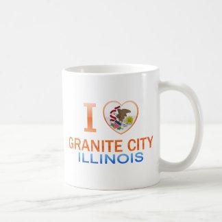 I Love Granite City, IL Mugs