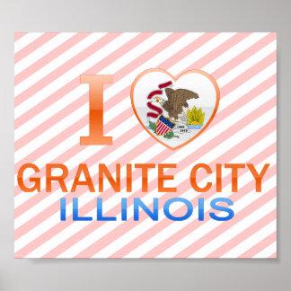 I Love Granite City, IL Posters