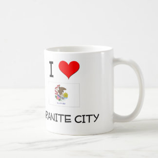 I Love GRANITE CITY Illinois Mugs