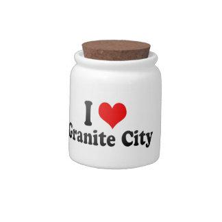 I Love Granite City, United States Candy Jar