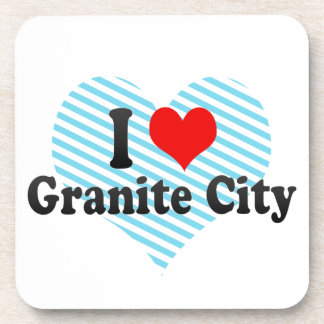 I Love Granite City, United States Beverage Coasters