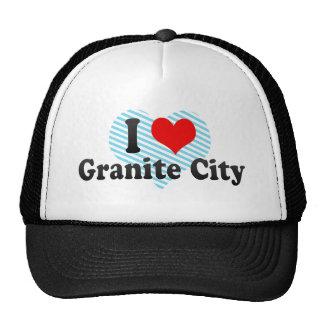 I Love Granite City, United States Hats