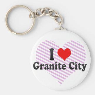 I Love Granite City, United States Keychain