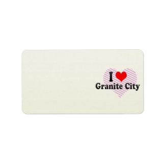 I Love Granite City, United States Custom Address Labels