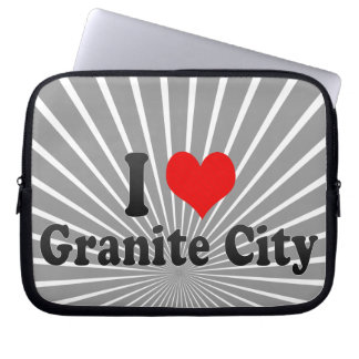 I Love Granite City, United States Laptop Computer Sleeve