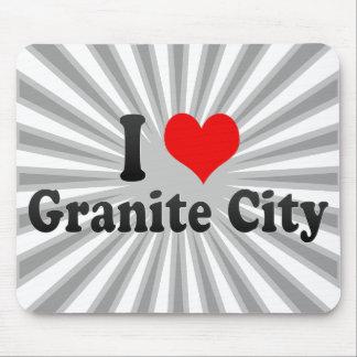 I Love Granite City, United States Mousepad