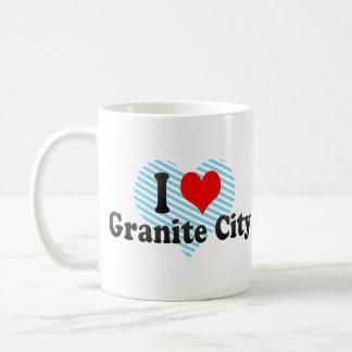 I Love Granite City, United States Coffee Mugs