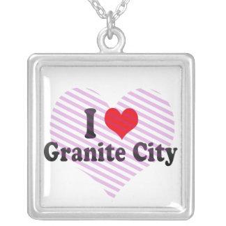 I Love Granite City, United States Custom Necklace