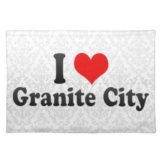 I Love Granite City, United States Place Mats
