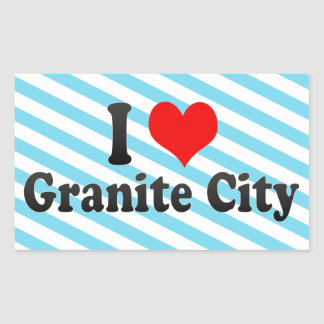 I Love Granite City, United States Rectangular Stickers