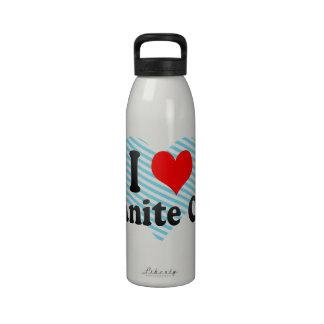 I Love Granite City, United States Water Bottles