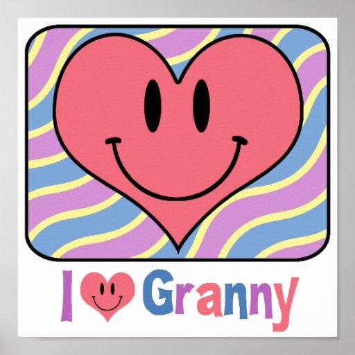I Love Granny Poster