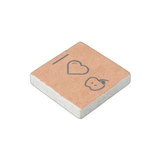 I Love Granny Smith Apples Stone Magnet