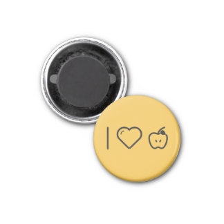 I Love Granny Smith Apples 1 Inch Round Magnet