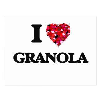 I Love Granola Postcard