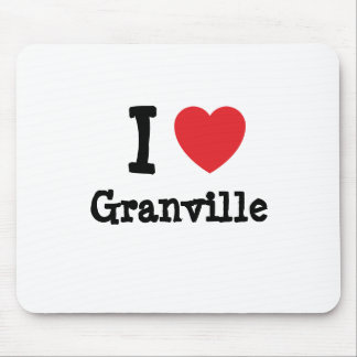 I love Granville heart custom personalized Mouse Mats