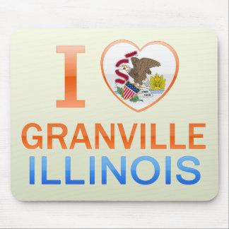 I Love Granville IL Mousepads
