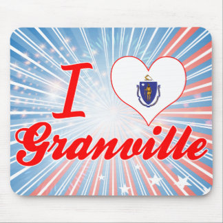 I Love Granville Massachusetts Mousepads