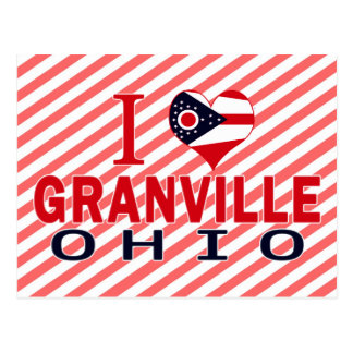 I love Granville, Ohio Postcard