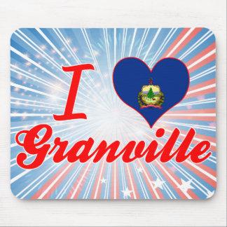 I Love Granville Vermont Mousepad